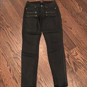 Paige Black Coated Skinny Jean